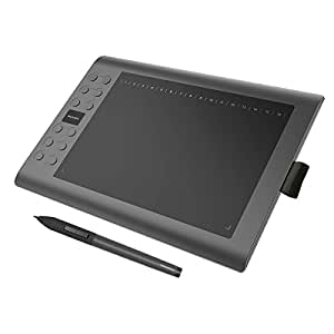 GAOMON M106K-For Both Windows and MAC- 10 x 6 Inches Painting Digital Graphics Pen Tablet with Rechargeable Pen (M106K)