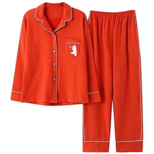 E Medicazione Homewear A Da Vestito Notte Pigiameria Autunnale Maniche Cotone In Set Cardigan Photo Pigiama Da Pigiama Pigiama Color Primaverile Lunghe Meaeo AzwqF6H