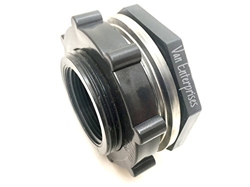 Quot pro series pvc bulkhead tank fitting adapter for rain