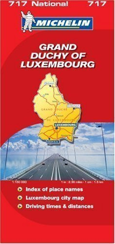 Grand Duchy of Luxembourg 2007 (Michelin National Maps) Revised Edition published by Michelin Maps (2007)