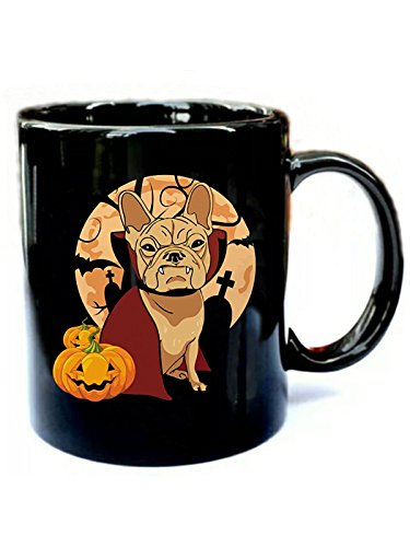 French Bulldog Halloween - Funny Gift Black 11oz Ceramic Coffee Mug ()