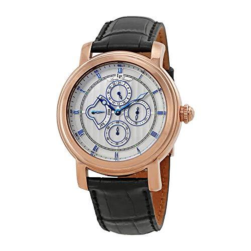 Lucien Piccard Men's 40009-RG-02S Valarta Analog Display Quartz Black Watch (Lucien Piccard White Wrist Watch)