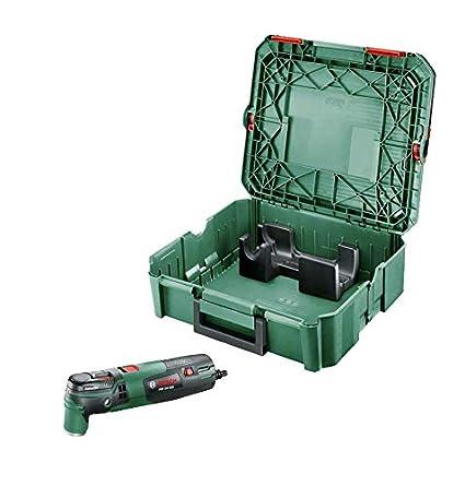 in Valigetta per Accessori Starlock e Starlockplus Bosch PMF 350 CES Utensile Multifunzione 350 Watt Nero//Verde