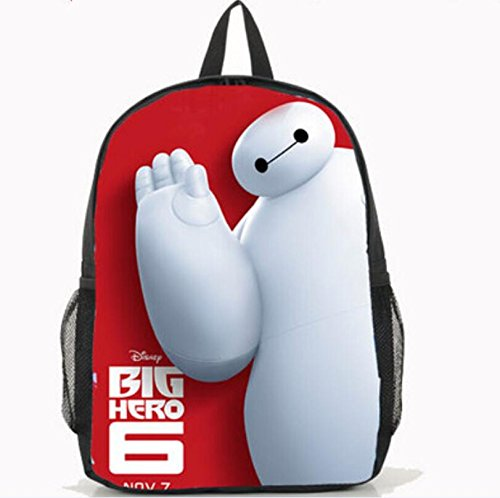 Speaking Life Hiro Hamada Backpack BIG Hero Anime Pu Student Shoulder Bag for Schoolbag,black (6)