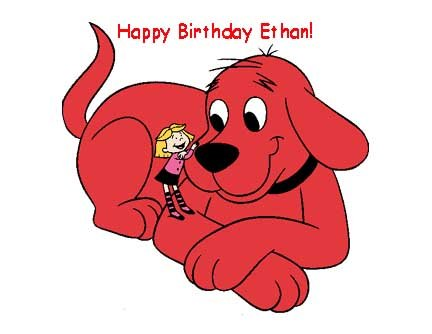 Clifford Red Dog Personalized Edible Cake Image Birthday Party -
