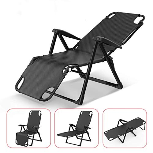 Folding Camping Bed Cot Zero Gravity Lounge Chair Deck Chairs Patio Adjustable Backrest/Foot Folding Recliner, Outdoor Multi Position Sun Lounger, with Pillow for Deck Patio Beach Garden Outdoor