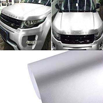Uniqus 5m  0.5m Ice bluee Metallic Matte ICY Ice Car Decal Wrap Auto Wrapping Vehicle Sticker Motorcycle Sheet Tint Vinyl Air Bubble Free(Silver)