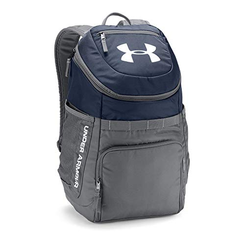 Under Armour Undeniable Backpack, Midnight Navy (410)/White, One Size (Under Armour Basketball Bag)