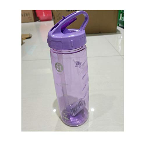 Health Sport Bottle With Straw 630Ml For Outdoor Sport Bike Travel Camping Protein Shaker Water Bottle Tour,Pule