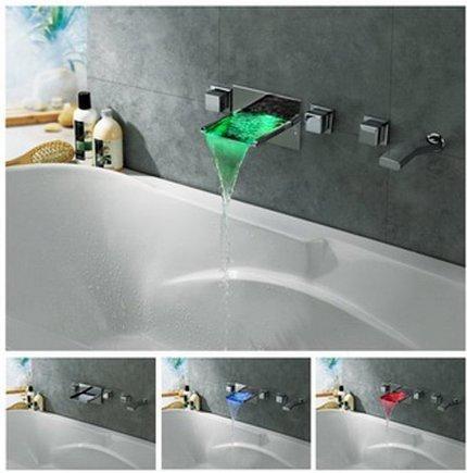 GOWE Bathtub Vessel Torneira Water Tap Sink Bathroom Waterfall Chrome Basin Faucet Mixer Vanity Sinks Mixers Taps 0