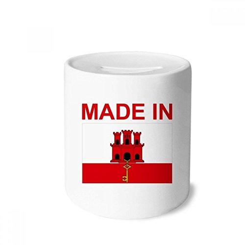 Cases Gibraltar (DIYthinker Made In Gibraltar Country Love Money Box Saving Banks Ceramic Coin Case Kids Adults)