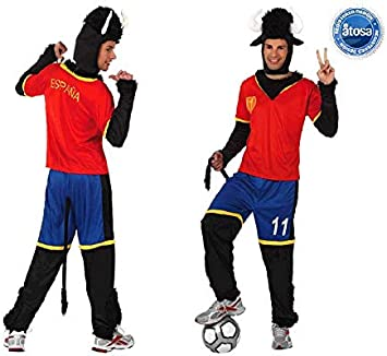 Juguetes Fantasia - Disfraz toro futbolista españa: Amazon.es: Juguetes y juegos