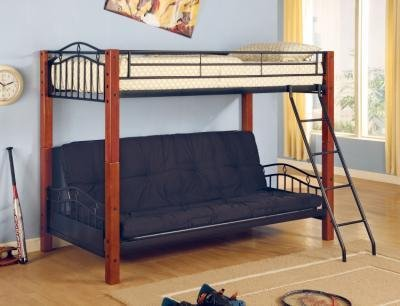 Collins Twin over Futon Bunk Bed Black and Cinnamon Review