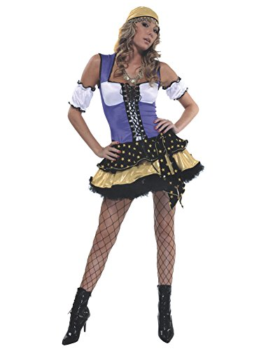 Inexpensive Costumes (Sexy Gypsy Costume Bohemian Fortune Teller Traveller Theatre Costumes Sizes: Medium-Large)