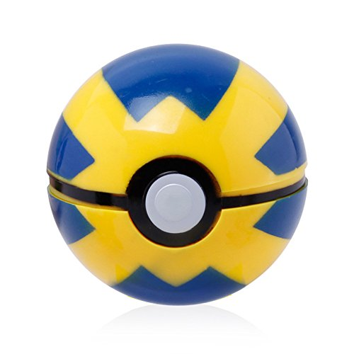 Andyshi Anime Figures Pocket Monster Pokemon Ball Cartoon Pokeball Plastic Pop-up Toys Pokemon/Pikachu Cosplay Gift Colorful Size 7cm Hot For Children Kids ( Pikachu And Pokemon Random )