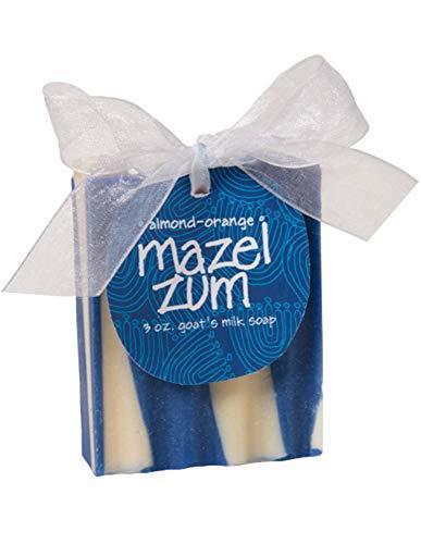 - Indigo Wild Mazel Zum Bar with Bow Goat's Milk Soap Almond Orange