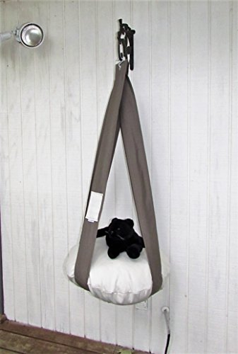 Cat Bed Neutral Khaki Green & Cream Single Cat Bed, Kitty Cloud, Hanging Cat Bed, Pet Furniture, Gift, Cat Tree by 7 Cats Heaven