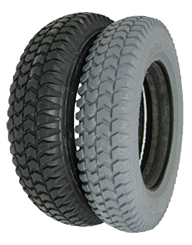 The Aftermarket Group Wheelchair Tire, Flat Free, Flat Tread, Grey, 14