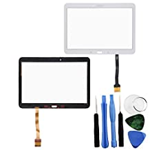 BisLinks® Touch Screen Digitizer White Part For Samsung Galaxy Tab 4 10.1 Adhesive + Tools