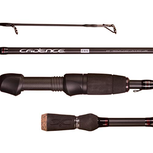 Cadence Fishing CR5 Spinning Rods | 30 Ton Carbon | Fuji Reel Seat | Stainless Steel Guides with SiC Inserts | CR5-702S-MHF