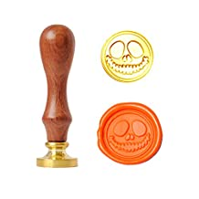 UNIQOOO Arts & Crafts the Halloween Pumpkin Skeleton Wax Seal Stamp
