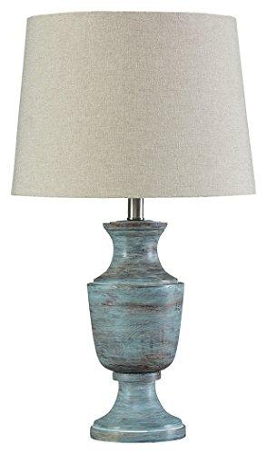 Weathered Blue Finish - Ashley Furniture Signature Design - Jehoram Table Lamp - Weathered Finish - Blue