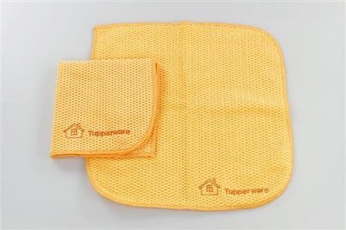 TUPPERWARE FaserPro Multi orange 2 Mikrofasertuch Allzweck abgerundet