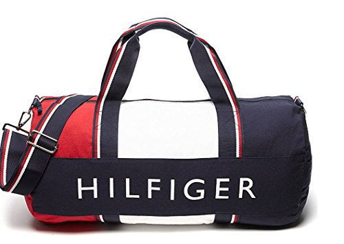 TOMMY HILFIGER Canvas Navy and Red Patriot Duffle Bag  Amazon.in  Sports