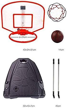Juguetes AMhuui Canasta de Baloncesto port/átil para ni/ños Adolescentes ni/ños al Aire Libre j/óvenes de Interior Sistema de Baloncesto de Altura Ajustable Padres