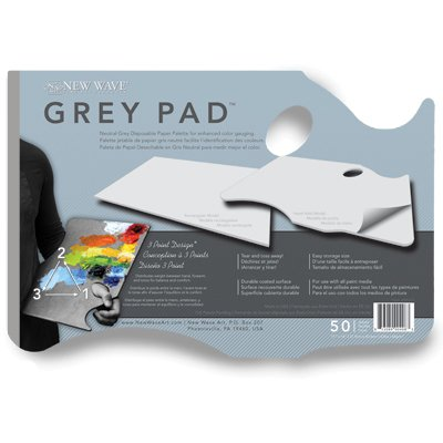 New Wave® Grey Pad® Hand Held Paper Palette 11