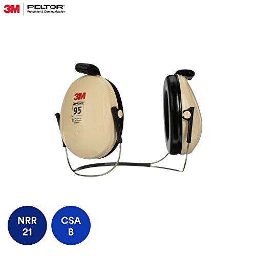 3M Peltor Optime 95 Behind-the-Head Earmuffs, Hearing Conservation H6B/V