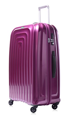 Lojel Wave Polycarbonate XL Upright Spinner Luggage, Violet, One Size