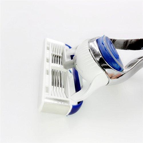 Safety Razor Blades Electric Razor Blades - Upgrade Razor Blades For Men Shaving, 4pcs/lot 5 Layer White Blade Portable Safety Shaver Blades - Feather Razor Blades by SumozTalk (Image #3)