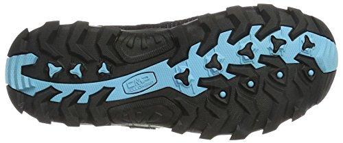 blue Rise CMP Rigel B Graffitte Women's Hiking clorophilla Boots Azzurro Blue 82bd Low AAUvnq