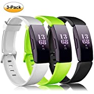 findway Compatible with Fitbit Inspire HR Bands/Inspire Band, Inspire Accessories Silicone Soft Bracelet Sport Strap Women Men Wristbands Compatible for Fitbit Inspire & Inspire HR Fitness Tracker.