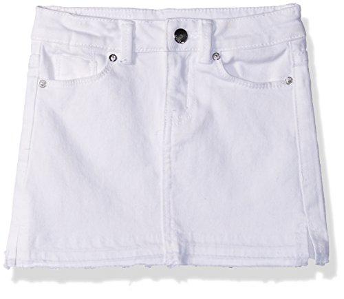 Jean Girls Skirt (Calvin Klein Big Girls' Denim Skirt, Whiteout, 14)