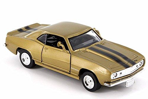 New Ray 1967 Chevy Camaro Z-28, Aztec Bronze w/ Black Stripes 50461 - 1/32 Scale Diecast Model Toy Car but NO Box