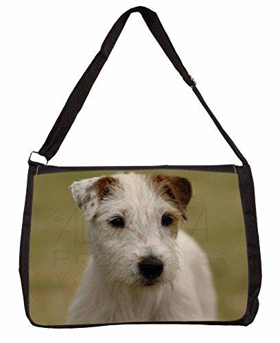 Parson Russell Terrier Dog Large 16 Black School Laptop Shoulder Bag lGGos0upN