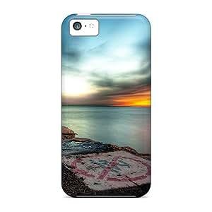 High Grade Charming YaYa Flexible Tpu Case For Iphone 5c - Hdr Sunset