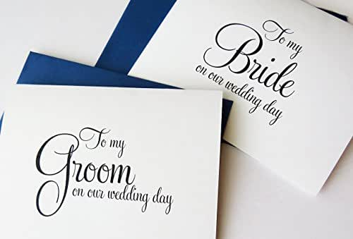 Gift For My Husband On Our Wedding Day: Amazon.com: To My Bride On Our Wedding Day, To My Groom On