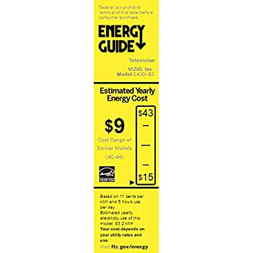 E 40 C2 Energy Guide - Manual Guide Example 2018 •