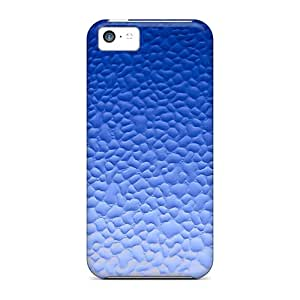 Anti-scratch Case Cover Empty Spiral Protective Blue Glass Case For Iphone 5c