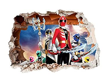 Power Rangers Design Childrenu0027s Repositionable Self Adhesive Vinyl 3D Hole  In The Wall Sticker Décor Part 19