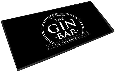 Artylicious die Gin Bar, die Kreis Eat Sleep Gin Repeat, Bar Runner matte