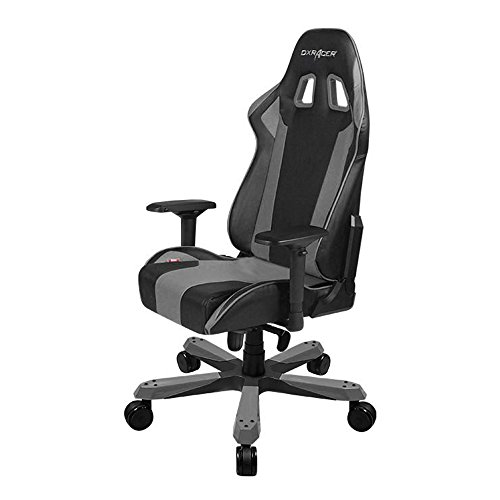 41ueYBUtLnL - DXRacer-King-Series-Big-and-Tall-Chair-DOHKS06NG-Racing-Bucket-Seat-Office-Chair-Gaming-Chair-Ergonomic-Computer-Chair-Esports-Desk-Chair-Executive-Chair-Furniture-With-Pillows-BlackGrey