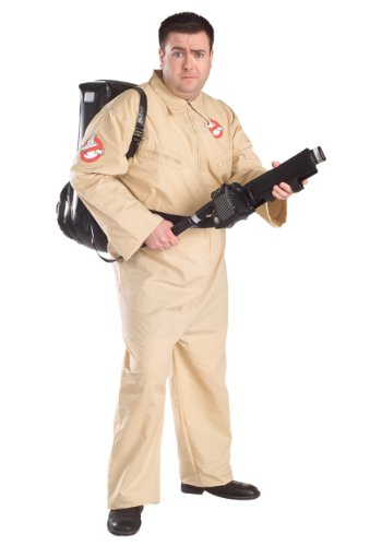 (Ghostbusters Costume With Inflatable Backpack, Plus Size, Adult)