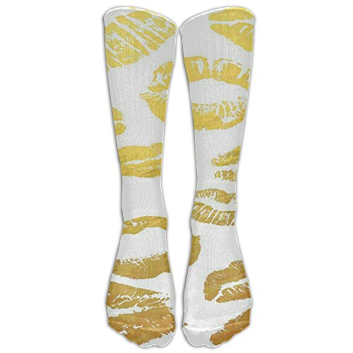 Lip Kiss Ventilate Thin Cotton Faster Recovery Fun Outfit POP Convenient Men Women Compression Socks Knee Socks For Sports Nurses Halloween Thanksgiving (Seductive Outfit Ideas)