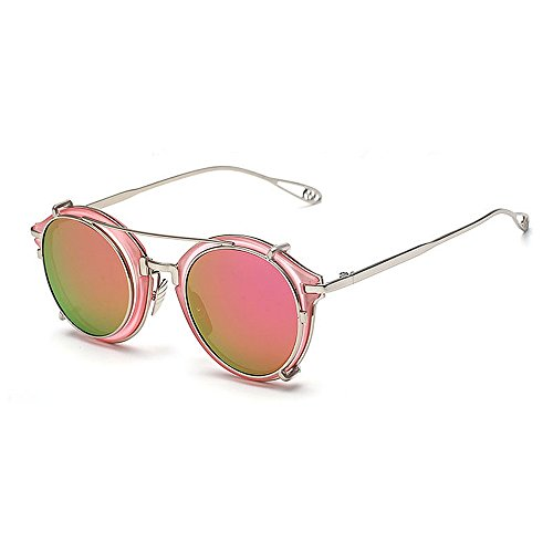 Aviator Retro Unisex SunglassesDY Dongy Metal a Purple Punk Color Gafas de Sol Desmontable Rayas Purple de UwSqYWIqTX