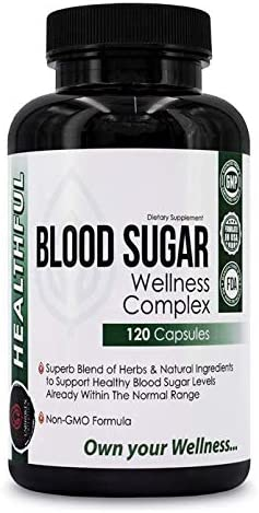 Blood Sugar Wellness Complex -with Effective and Potent Herbs and Natural Ingredients to Support Promote Healthy Blood Sugar Levels, Weight Loss and Insulin Levels-.