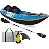 Driftsun Voyager 2 Person Inflatable Kayak - Complete with All Accessories, 2 Paddles, 2 Seats, Double Action Pump and More